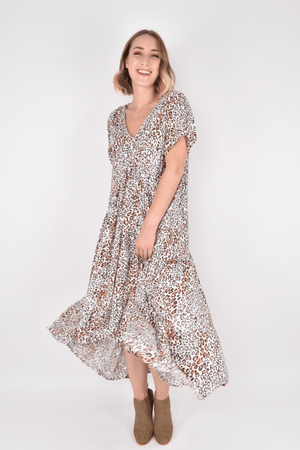 PQ Collection Peak Maxi Dress - Leopard Trail