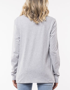 Silent Theory Long Sleeve Twisted Tee - Grey Marle