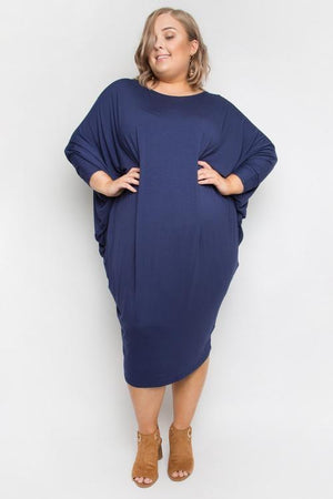 PQ Collection Miracle Dress Navy - French Kiss Boutique NZ