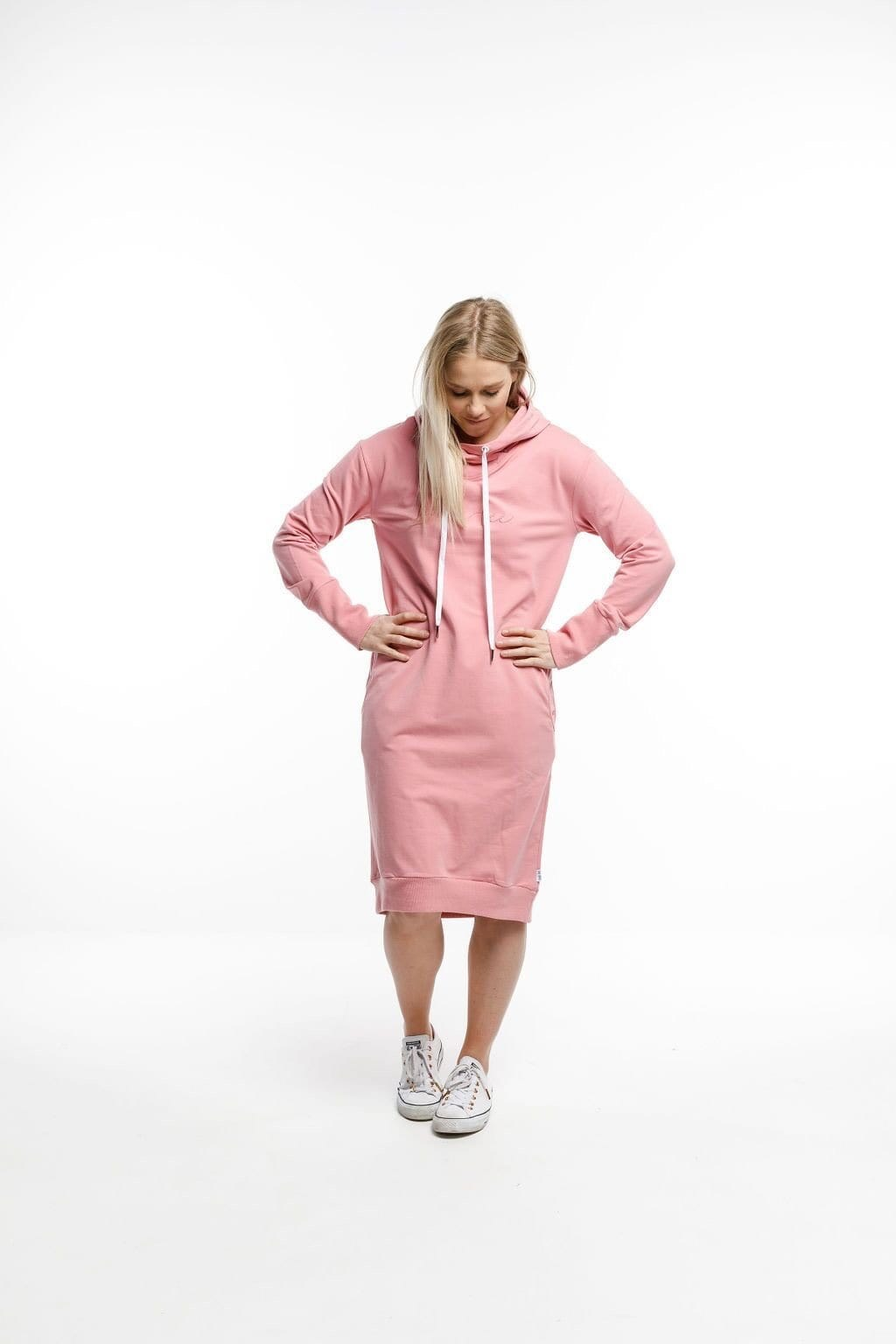 Home-Lee Hooded Sweater Dress