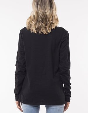 Silent Theory Long Sleeve Twisted Tee -Black