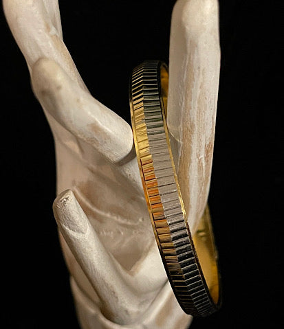 Ode to Kirk Franklin Silver & Gold Bangle 1