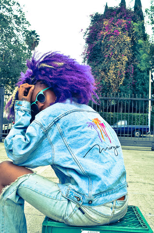 Women's Oversized Vintage Denim Jacket