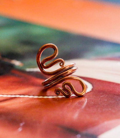 One of a Kind Copper Coil Wire Rings
