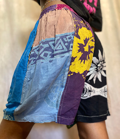 Beach Day Patchwork Shorts