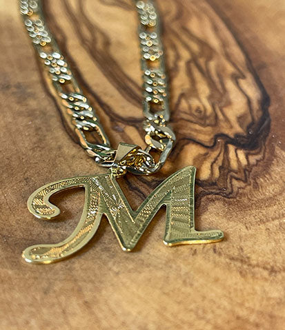Medium Gold Initial Necklace
