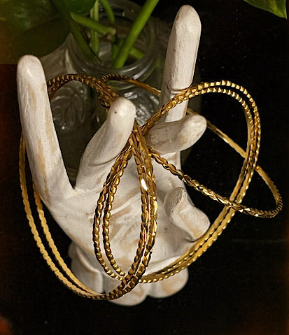 Queen Melanesia Gold Plated Bangles