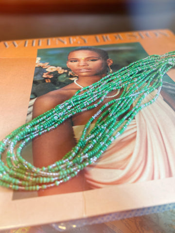 Green and Clear Waist Beads
