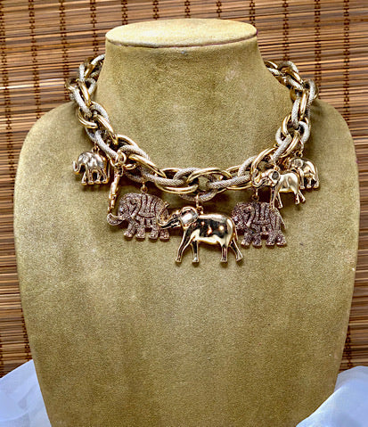 The Elephants Are Marching Necklace