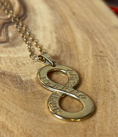 Gold Plated Infinity Love Necklace