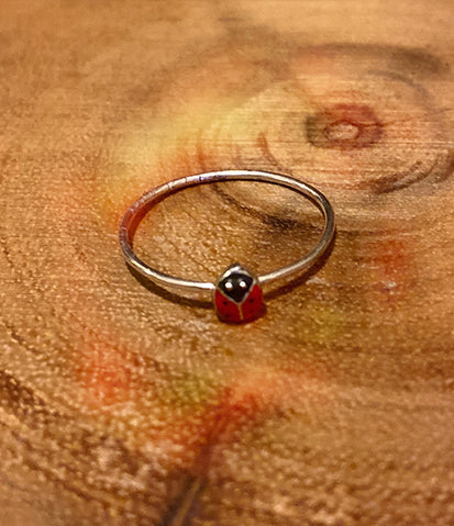 Lil Lady Bug Sterling Silver Toe Ring