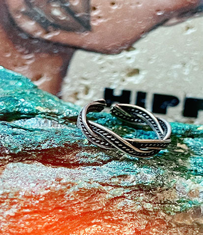 Tribal Band Sterling Silver Toe Ring