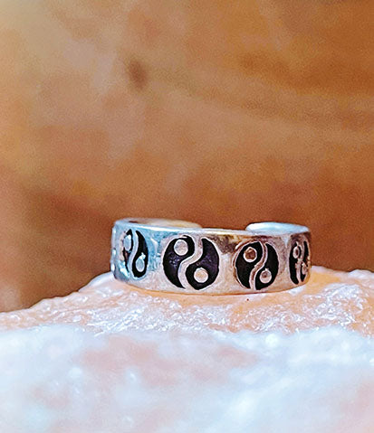 Ying Yang Sterling Silver Toe Ring