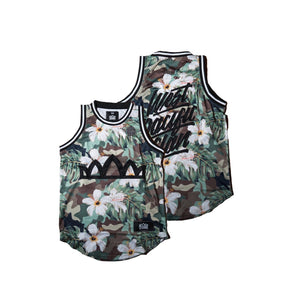 Camo Floral Athletic Jersey Tank