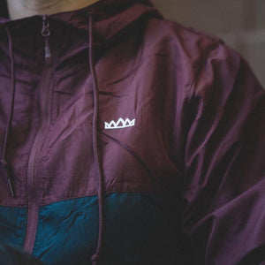 Adult Windbreaker Jacket (Maroon/Navy)