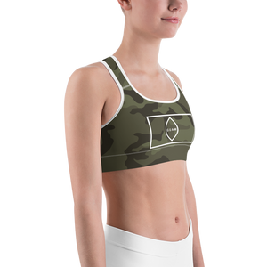 Deluxe Sports Bra: Jungle Camo