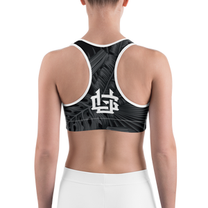 Deluxe Sports Bra: Seal Palms