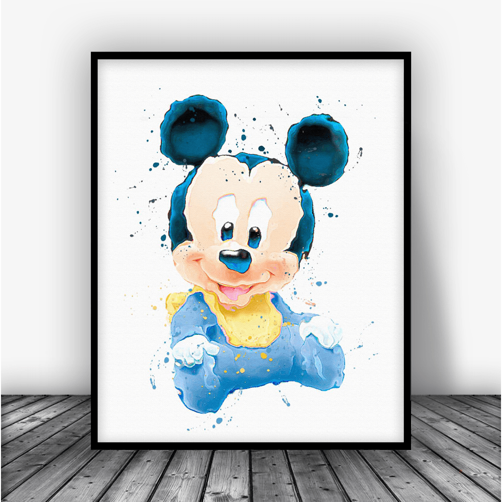 ... Baby Mickey Mouse Art Print Poster By Carma Zoe ...