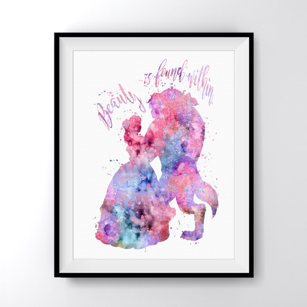 Beauty and the Beast Quote Art Print Poster - Carma Zoe