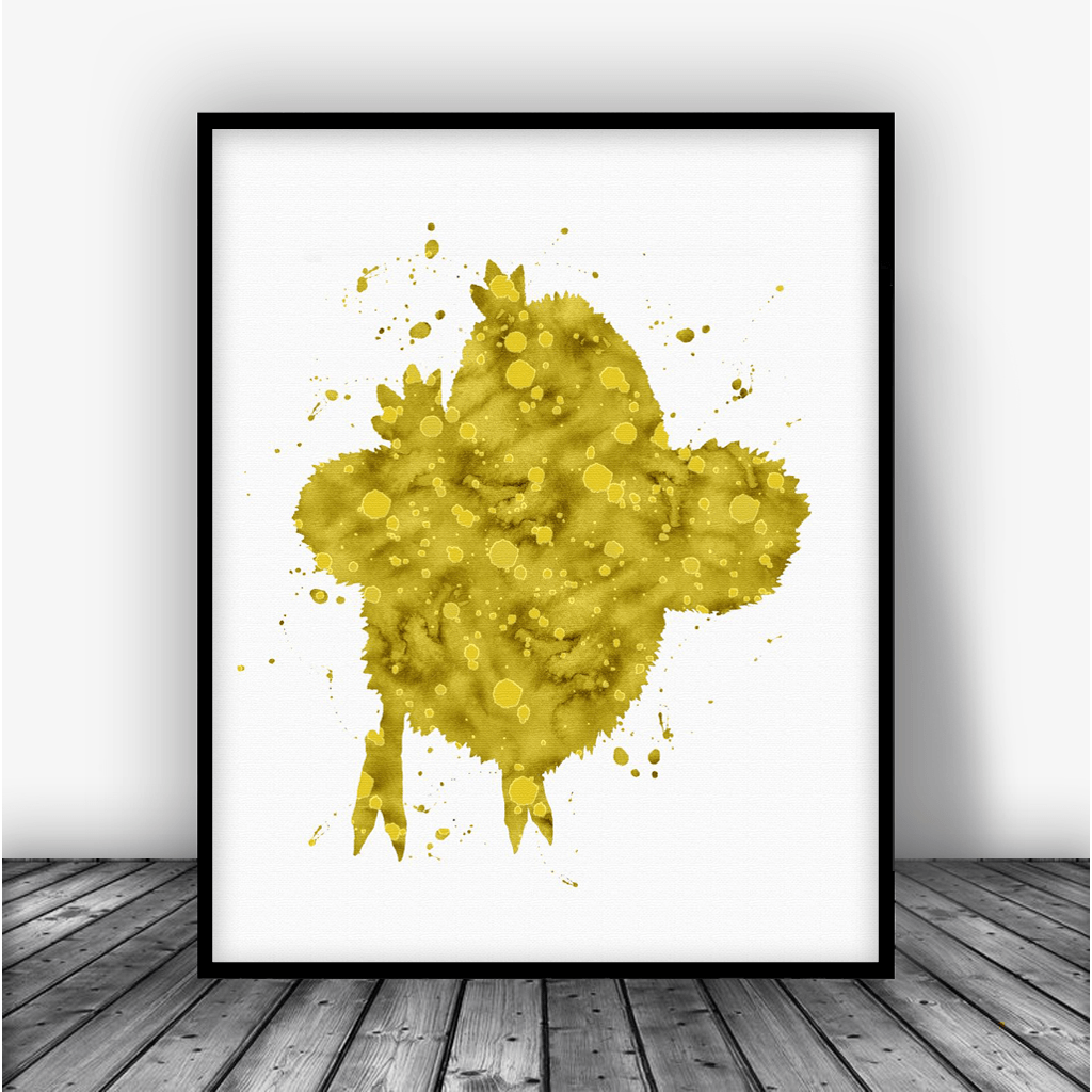 Final Fantasy Chocobo Art Print Poster - Carma Zoe