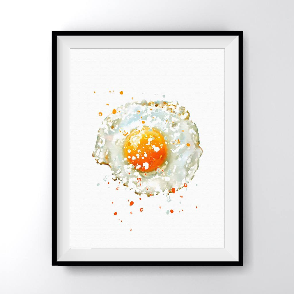 Fried Egg Kitchen Art Print Poster By Carma Zoe ...