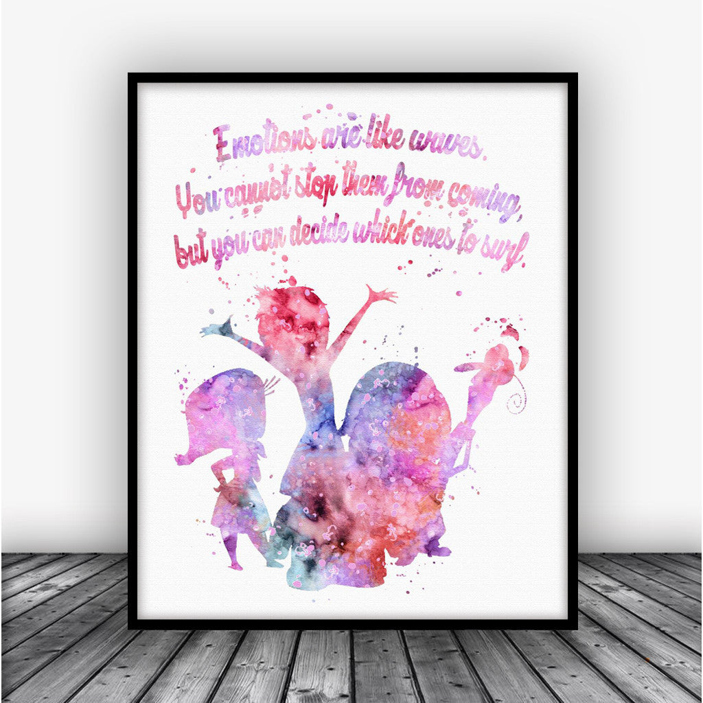 Inside Out Quote Art Print Poster