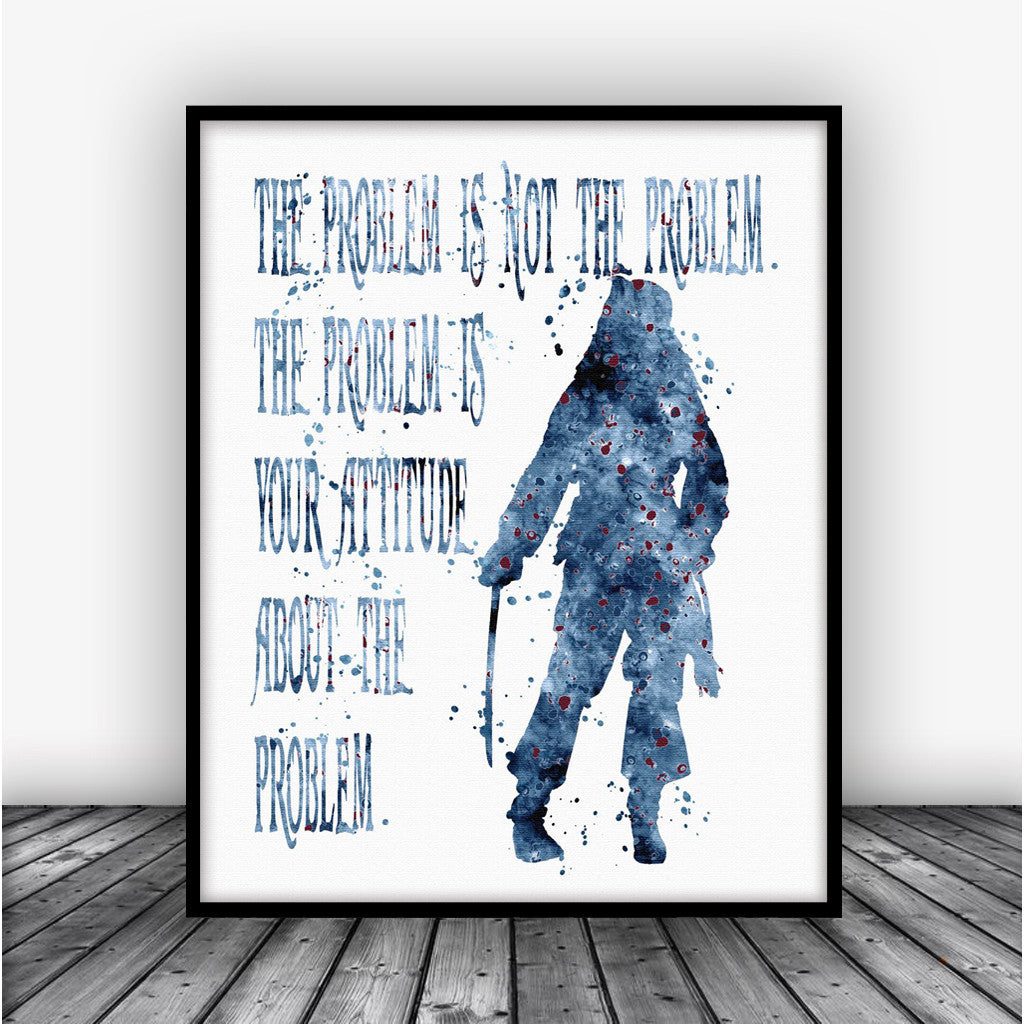 jack sparrow pirates of the caribbean quote art print poster carma zoe