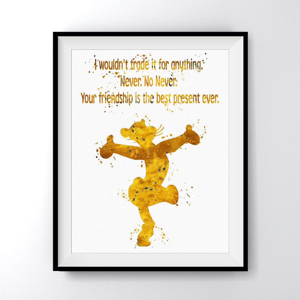 Quotes About Friendship Winnie The Pooh Winnie The Pooh Tigger Quote Art Print Poster  Carma Zoe