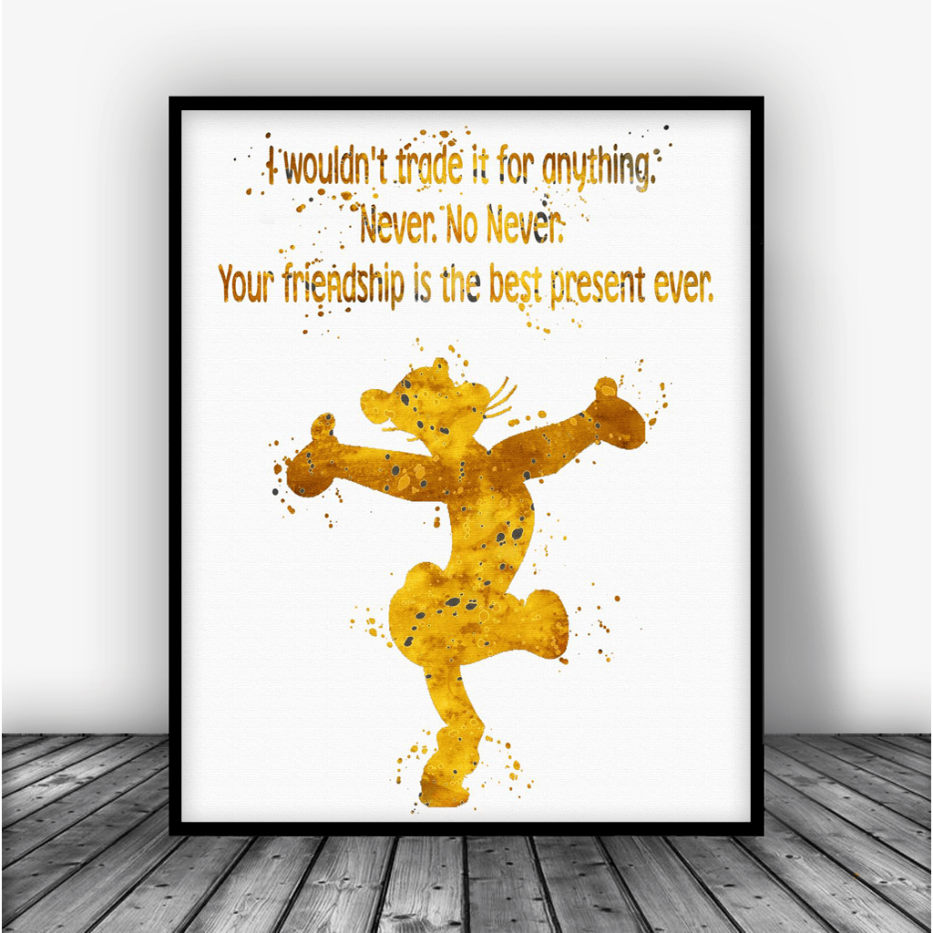 Winnie The Pooh Quote Art: Winnie The Pooh Tigger Quote Art Print Poster