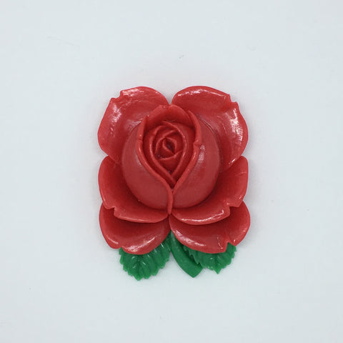 Large Rose Resin Brooch