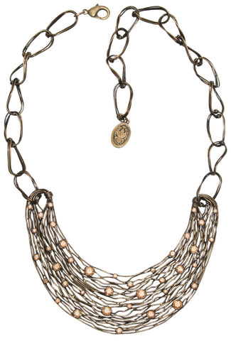 Cages necklace beige