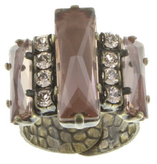 ring Manhattan Rocks beige antique brass