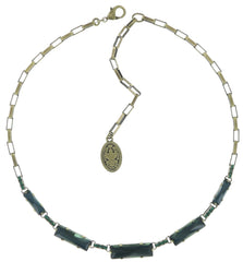 necklace Manhattan Rocks blue/green antique brass