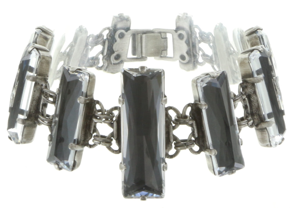 bracelet Manhattan Rocks grey antique silver