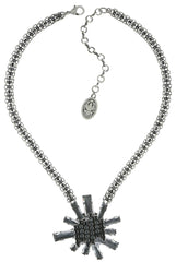 necklace Manhattan Rocks grey antique silver