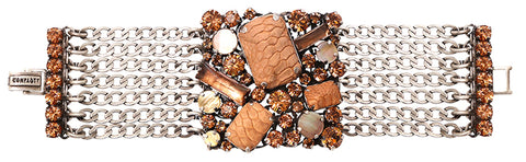 bracelet To Katharine With Love brown antique silver