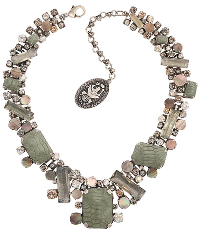 necklace collier To Katharine With Love grey antique silver