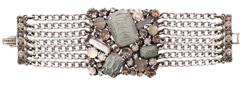 bracelet To Katharine With Love grey antique silver