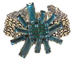 bracelet Manhattan Rocks blue/green antique brass