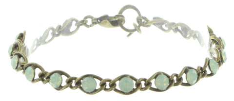 bracelet Magic Fireball light green antique brass Classic Size (21mm Ø)