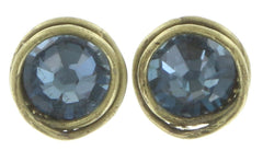 earring stud Sparkle Twist blue antique brass SS 34