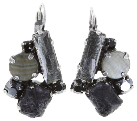 earring eurowire To Katharine With Love black antique silver