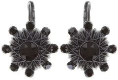 earring eurowire Oriental Architecture black Dark Antique Silver