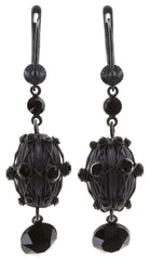 earring dangling Oriental Architecture black Dark Antique Silver