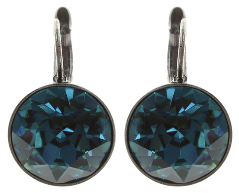 earring eurowire Casino blue antique silver