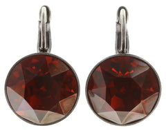 earring eurowire Casino red antique silver