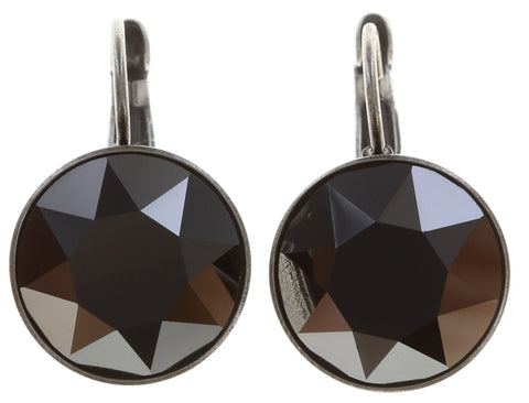 earring eurowire Casino black antique silver