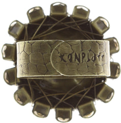 ring Queen of Elves brown antique brass 16 mm