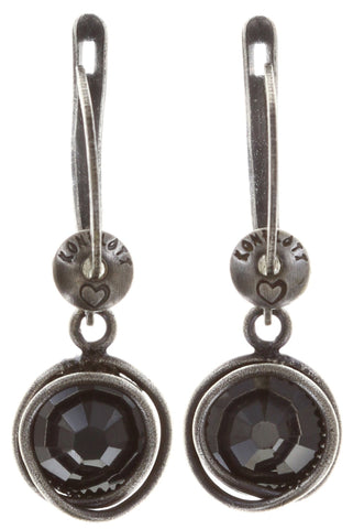 earring dangling Sparkle Twist black antique silver