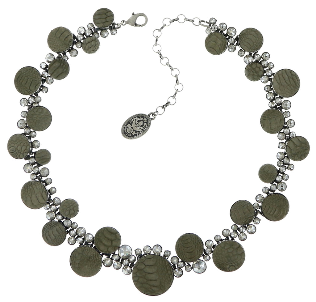necklace Planet River grey antique silver